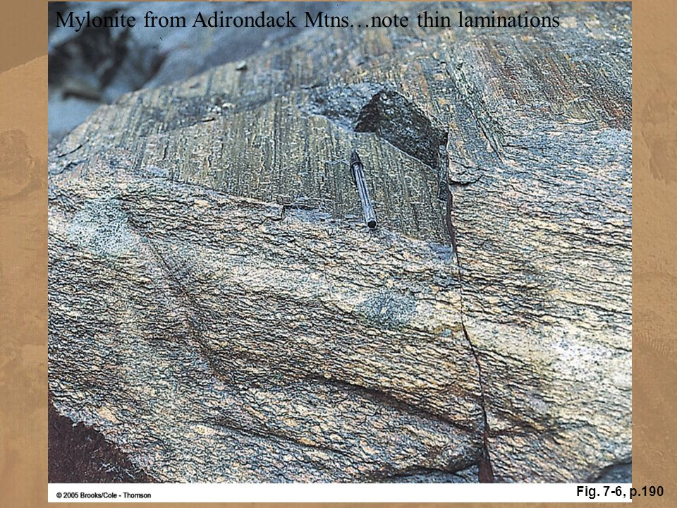 Mylonite from Adirondack Mtns…note thin laminations