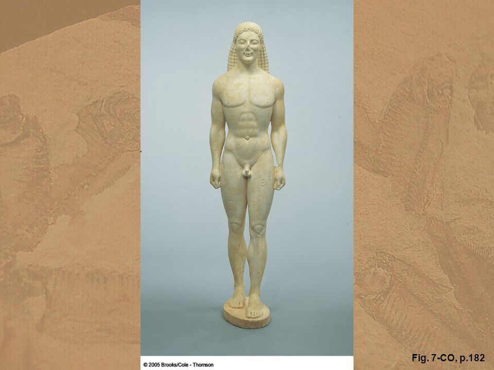 This Greek kouros, which stands 206 cm tall, has been the object of an intensive authentication study by the Getty Museum. Using a variety of geologic tests, scientists have determined that the kouros was carved from dolomitic marble that probably came from the Cape Vathy quarries on the island of Thasos. Garry Hobart/GeoImagery
