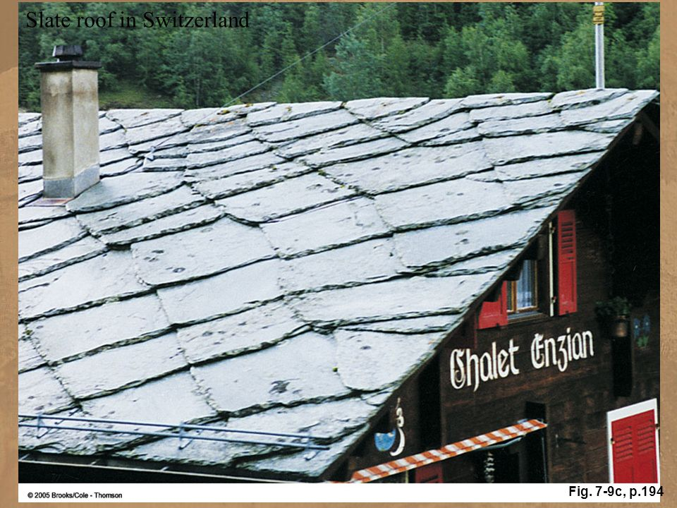 Slate roof in Switzerland
