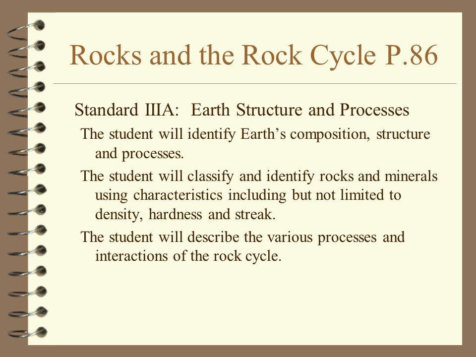 Rocks and the Rock Cycle P.86
