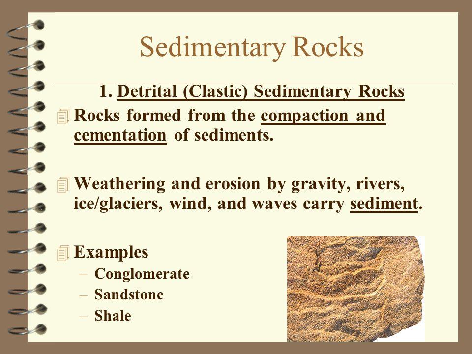 1. Detrital (Clastic) Sedimentary Rocks
