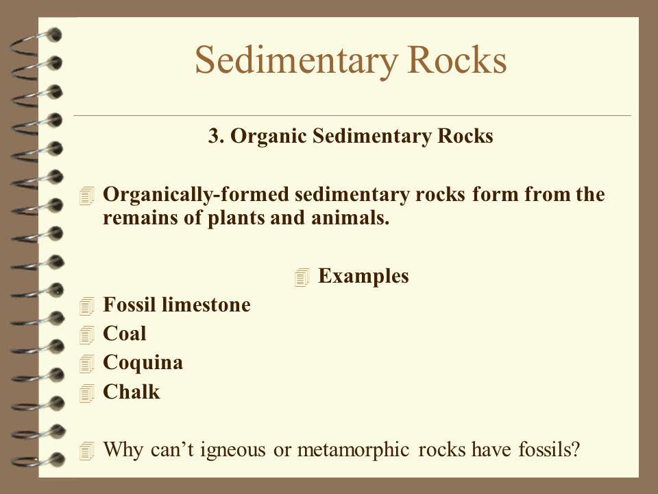 3. Organic Sedimentary Rocks