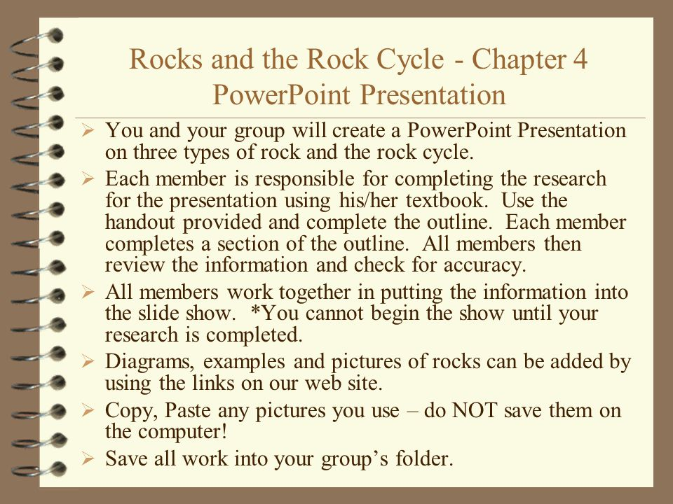 Rocks and the Rock Cycle - Chapter 4 PowerPoint Presentation
