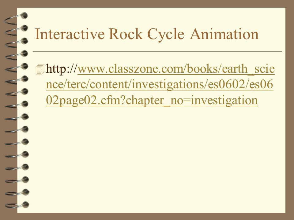 Interactive Rock Cycle Animation