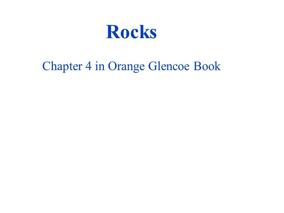 Rocks Chapter 4 in Orange Glencoe Book