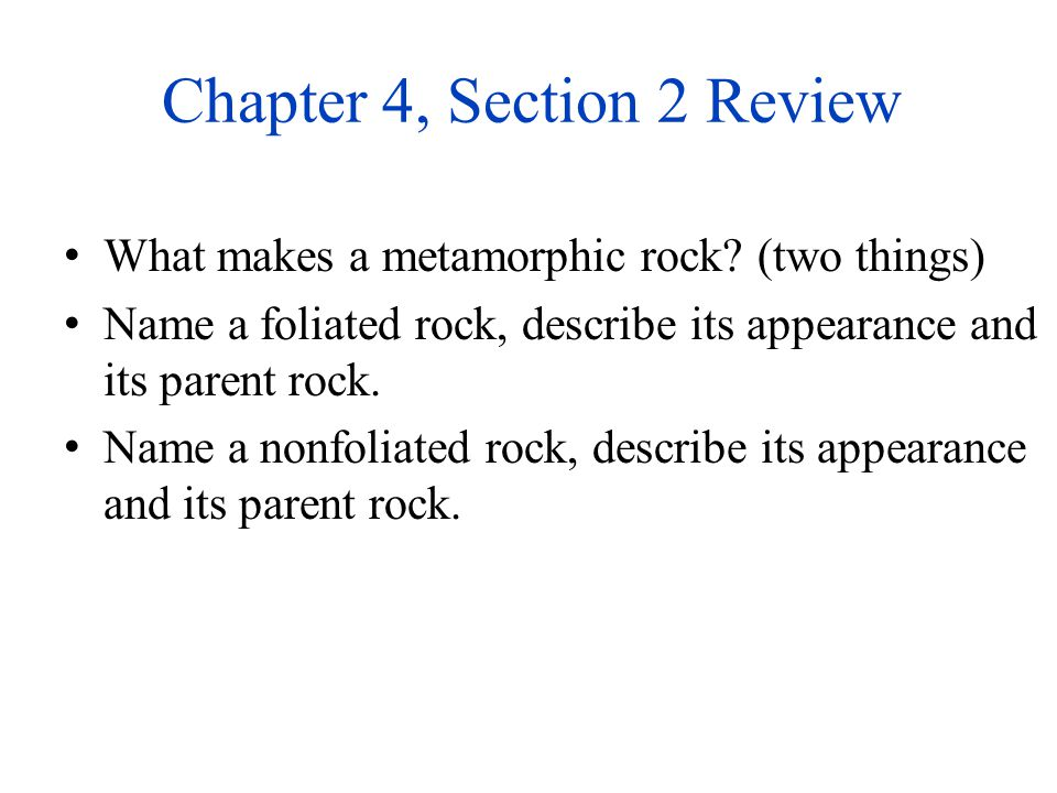 Chapter 4, Section 2 Review