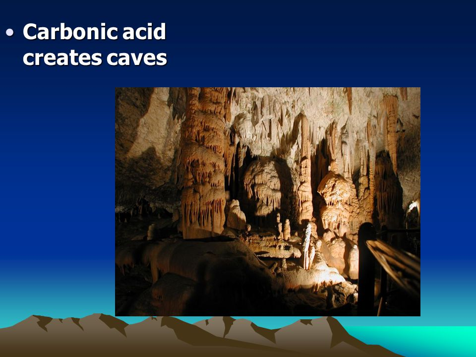 Carbonic acid creates caves
