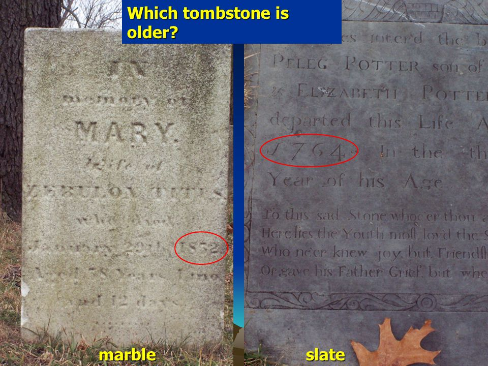 Which tombstone is older