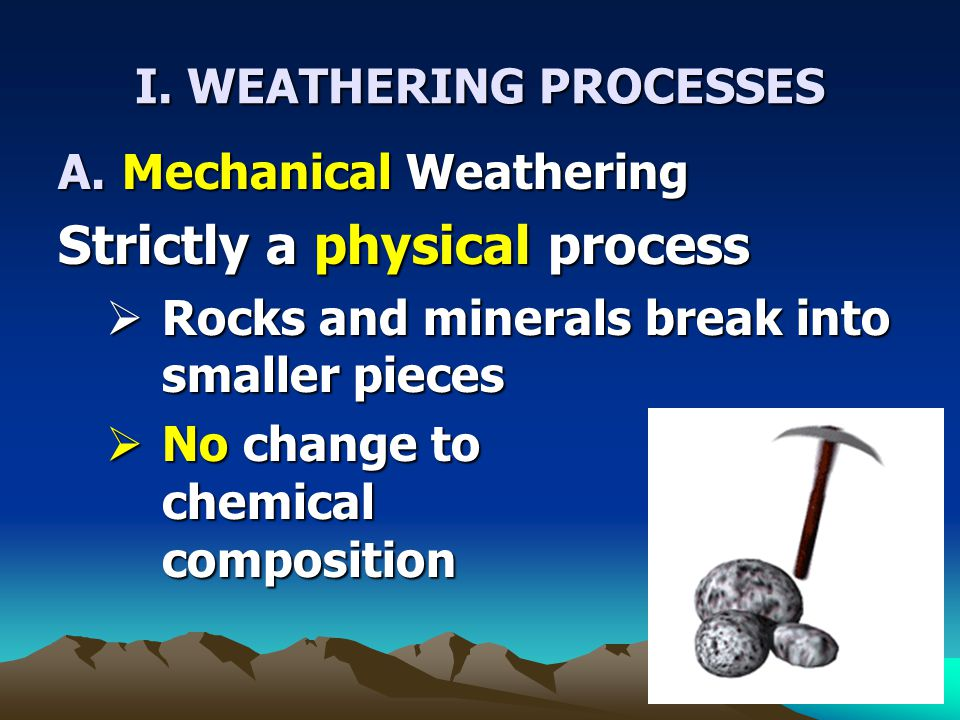 I. WEATHERING PROCESSES