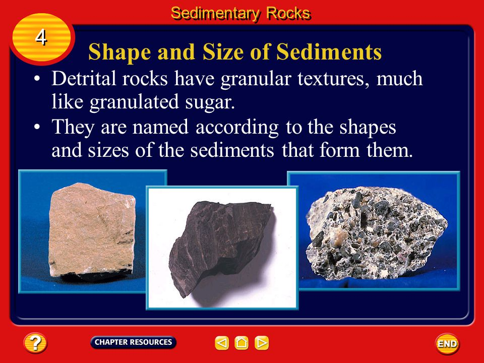 Shape and Size of Sediments