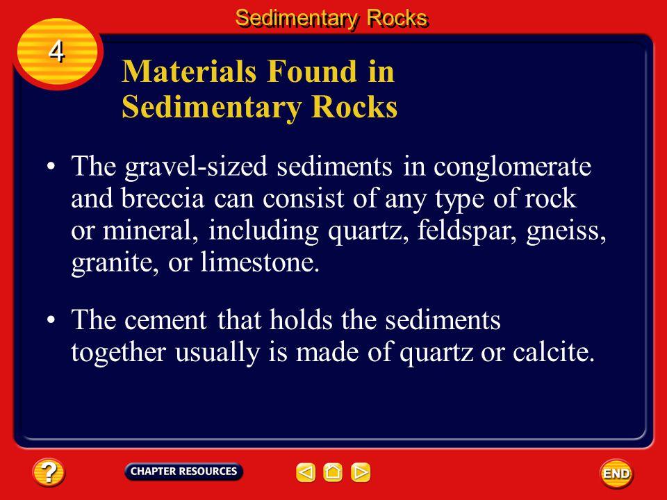 Materials Found in Sedimentary Rocks