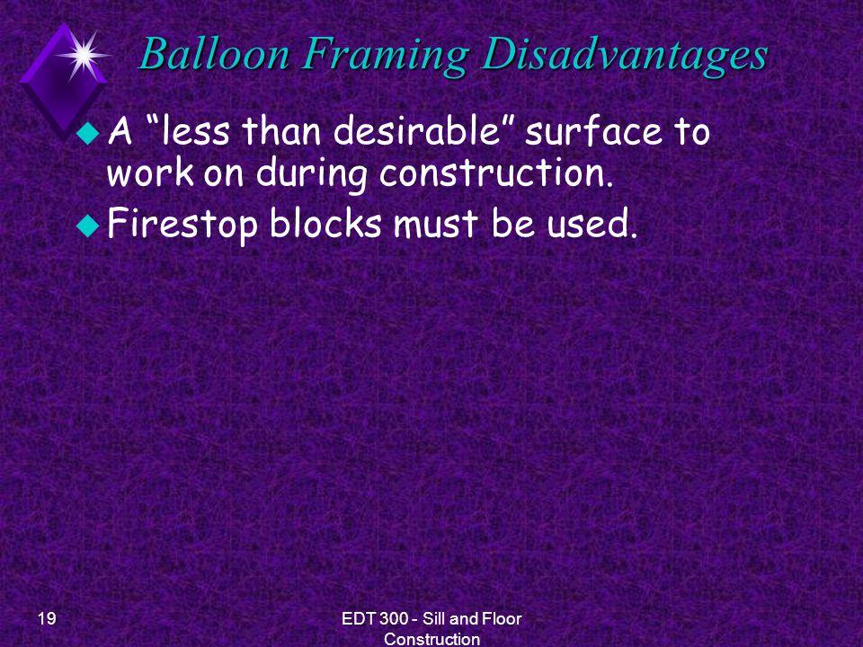 Balloon Framing Disadvantages