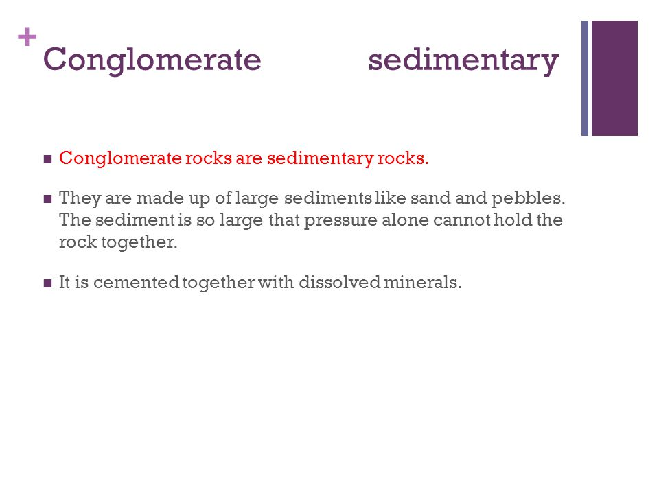 Conglomerate sedimentary