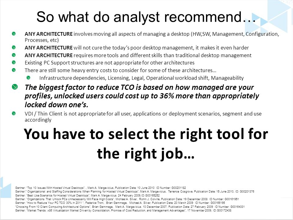 So what do analyst recommend…