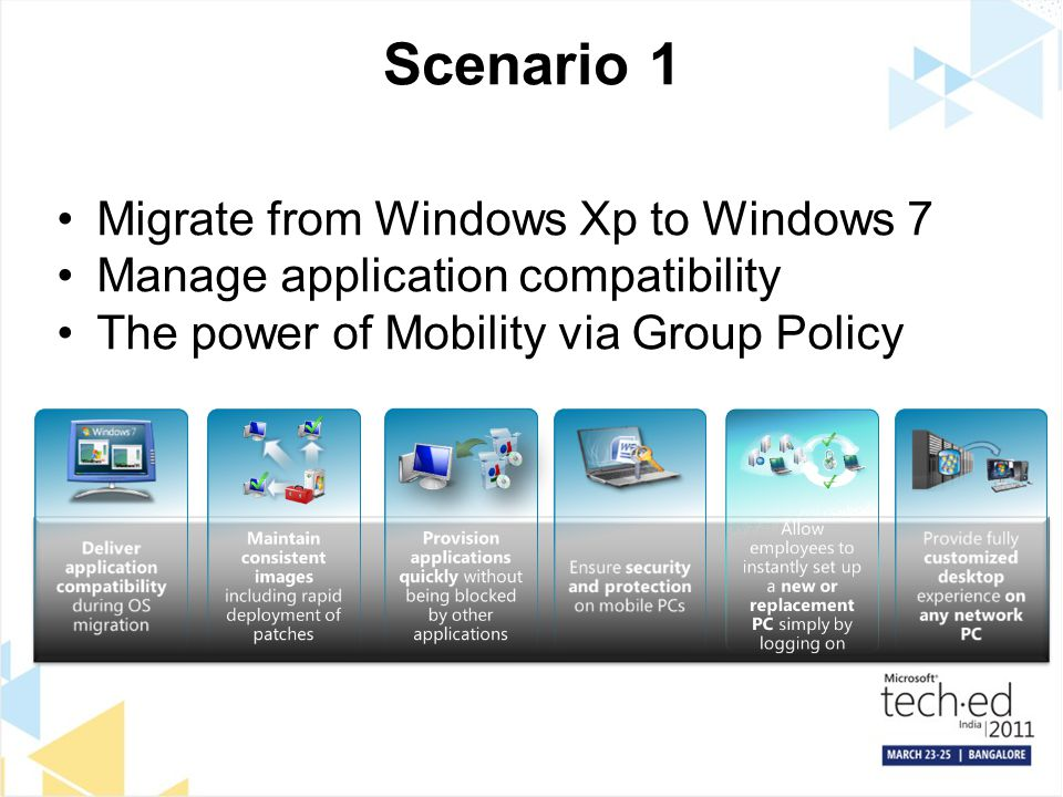 Scenario 1 Migrate from Windows Xp to Windows 7
