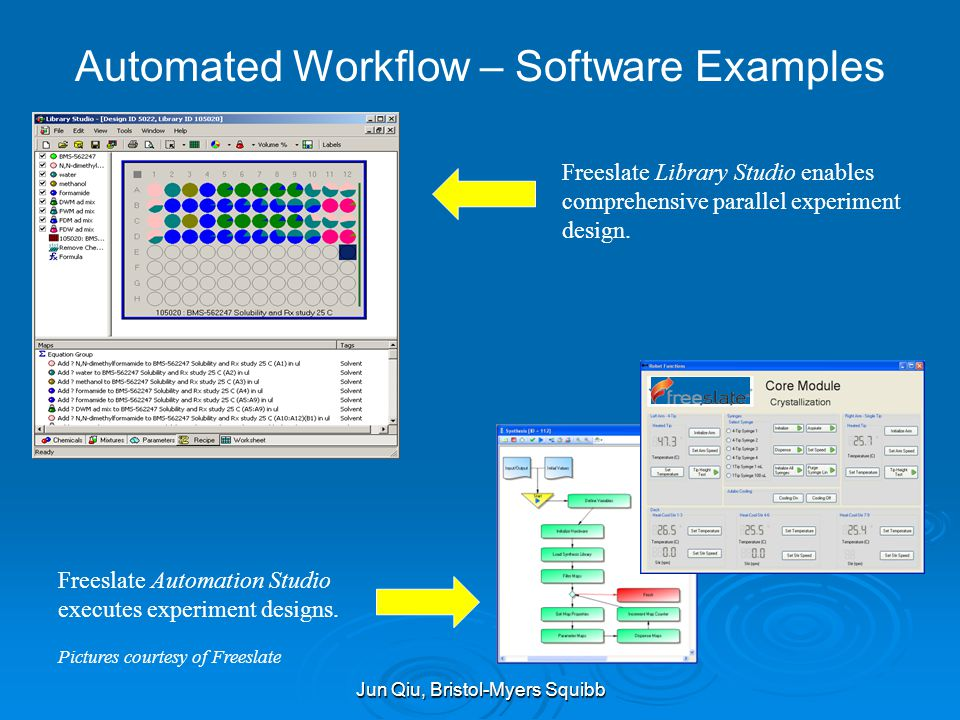 Automated Workflow – Software Examples