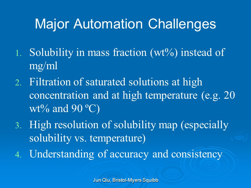 Major Automation Challenges