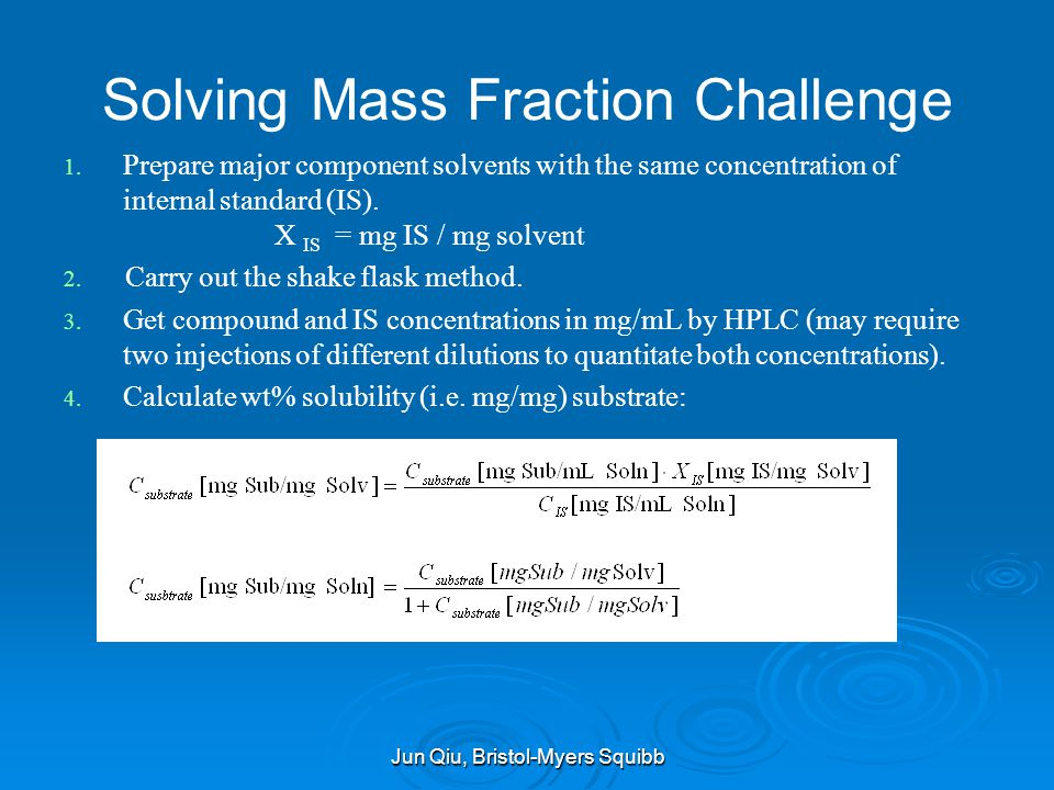 Solving Mass Fraction Challenge