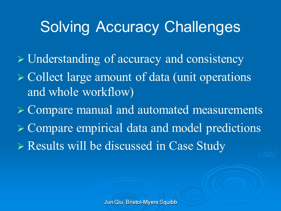Solving Accuracy Challenges