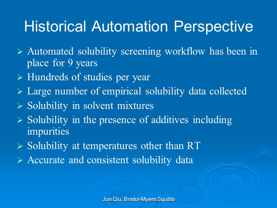 Historical Automation Perspective