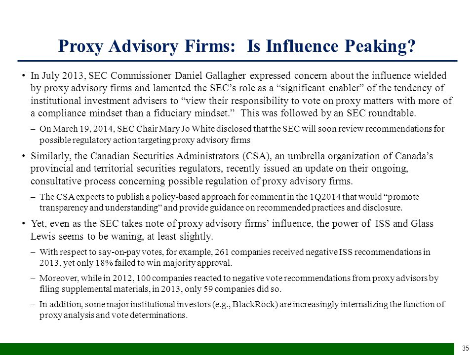 ISS proxy fight recommendations are highly consistent with shareholder vote preferences