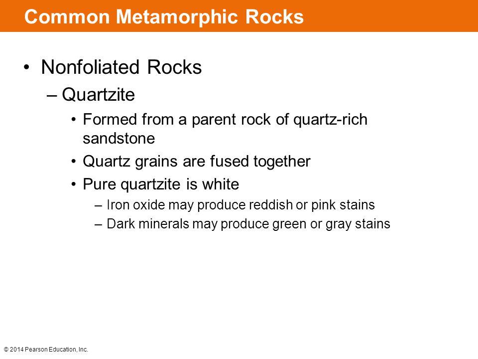 Common Metamorphic Rocks