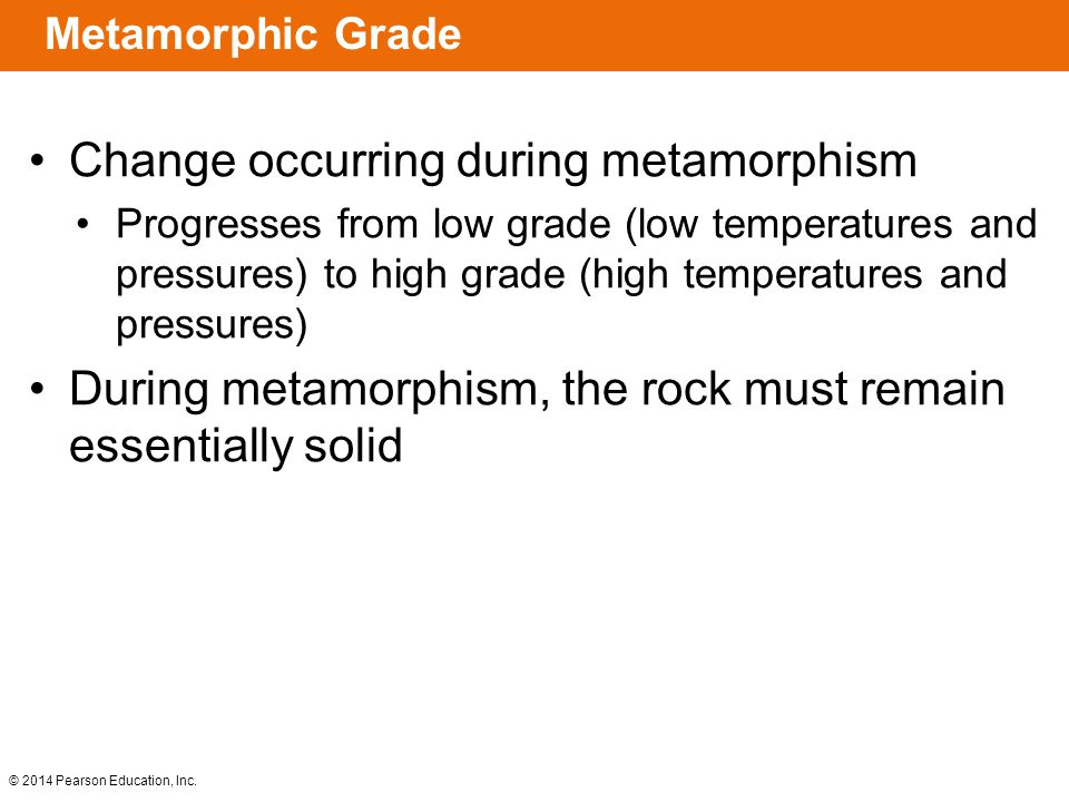 Change occurring during metamorphism
