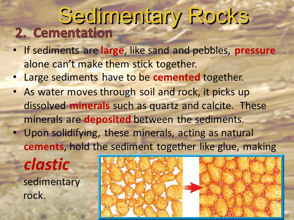 Sedimentary Rocks 2. Cementation