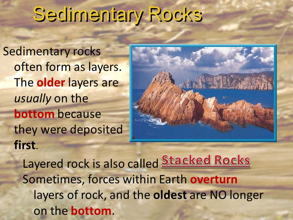 Sedimentary Rocks Stacked Rocks