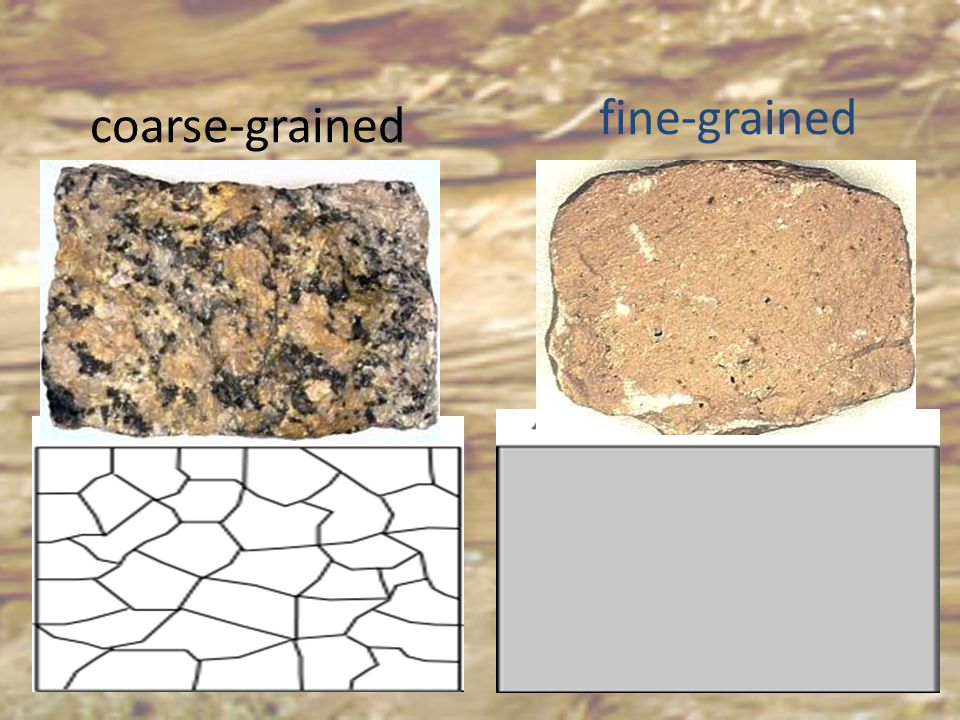 fine-grained coarse-grained