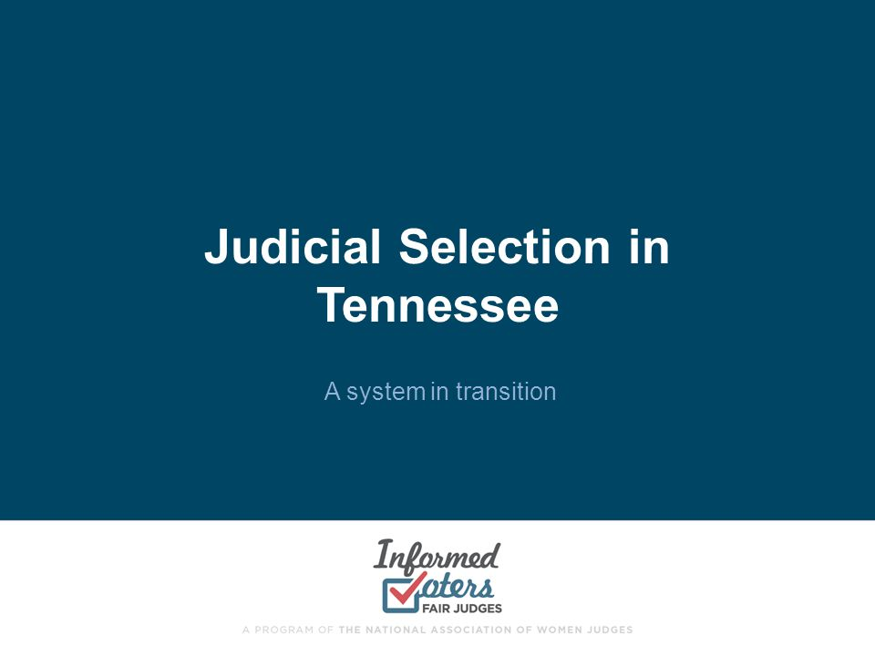Judicial Selection in Tennessee
