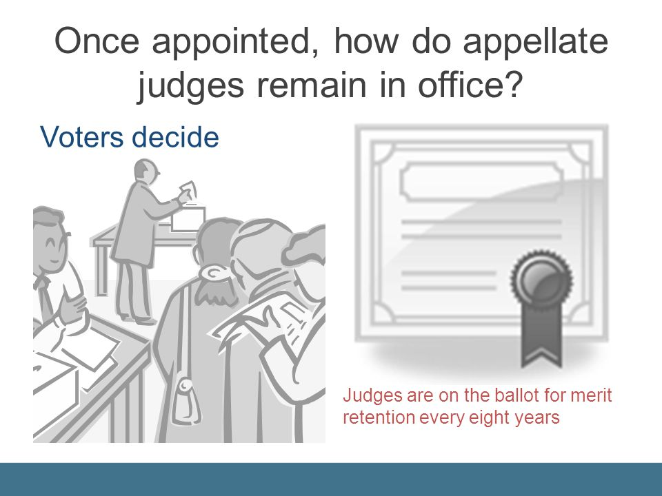 Once appointed, how do appellate judges remain in office