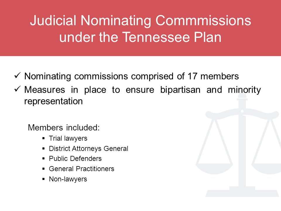 Judicial Nominating Commmissions under the Tennessee Plan