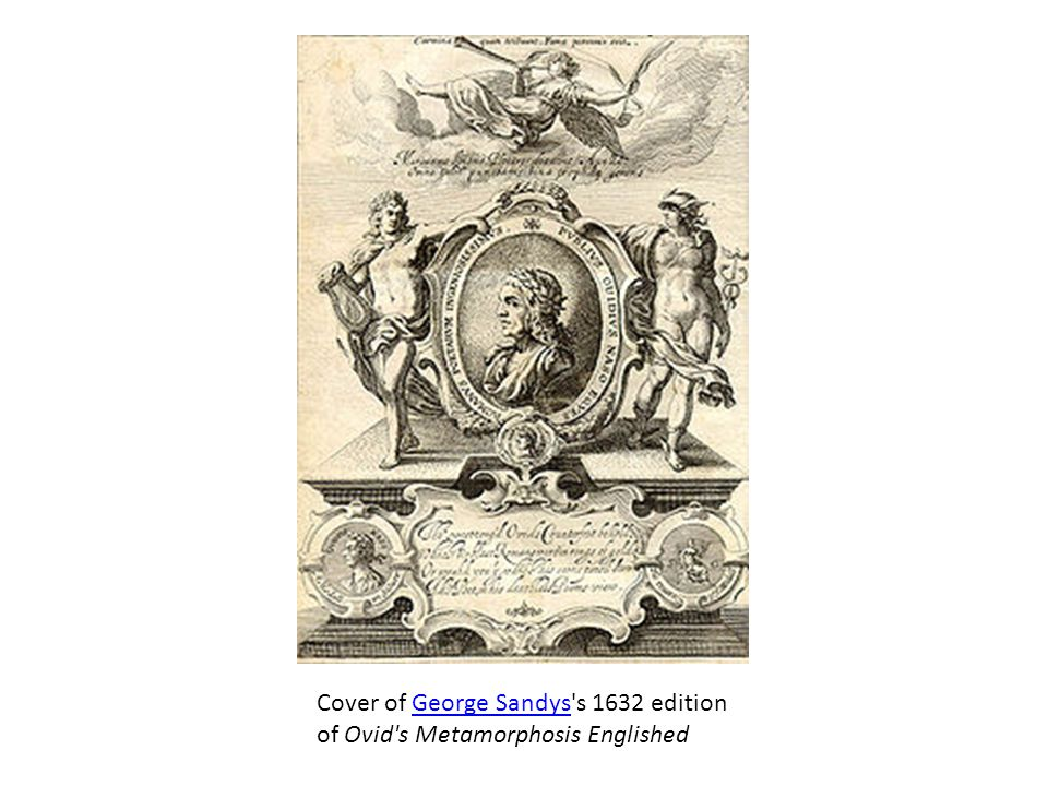 Cover of George Sandys s 1632 edition of Ovid s Metamorphosis Englished
