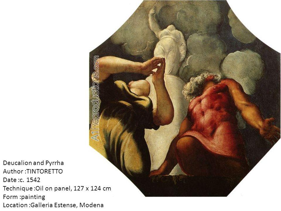 Deucalion and Pyrrha Author :TINTORETTO Date :c.