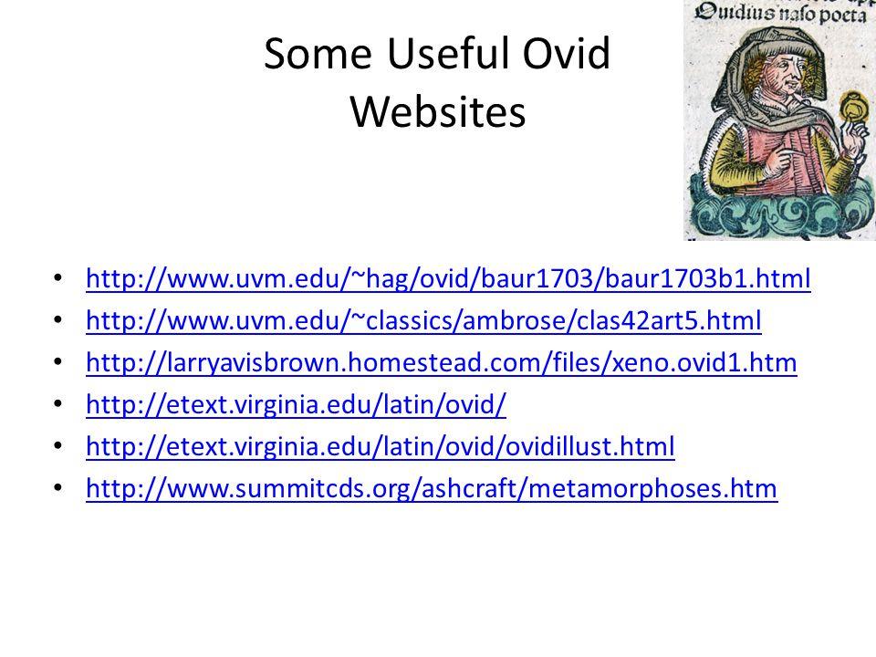 Some Useful Ovid Websites