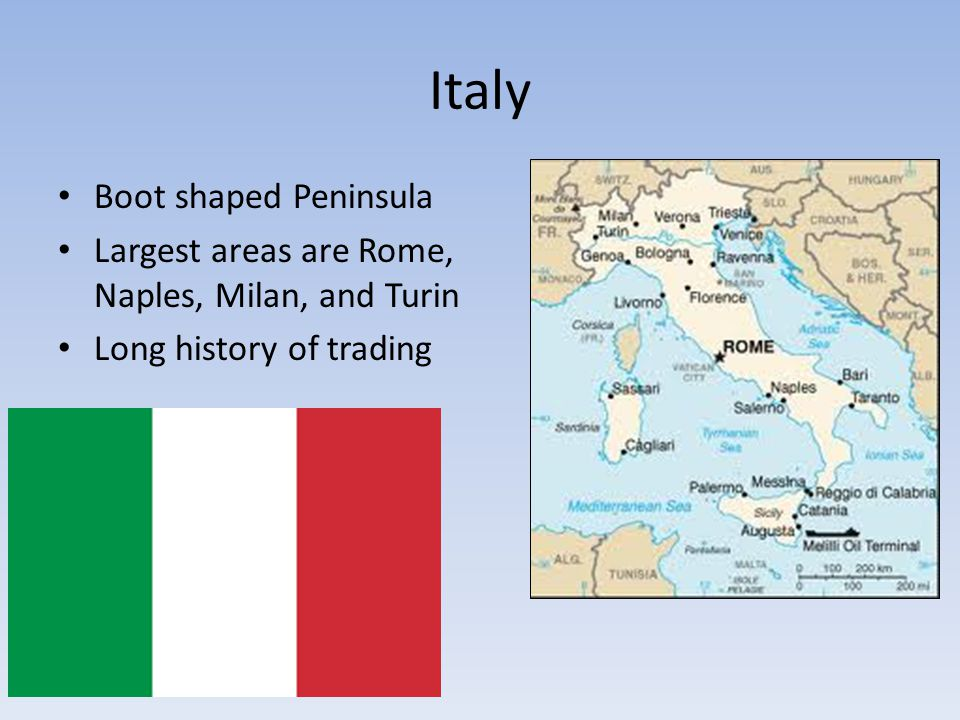 Italy Boot shaped Peninsula