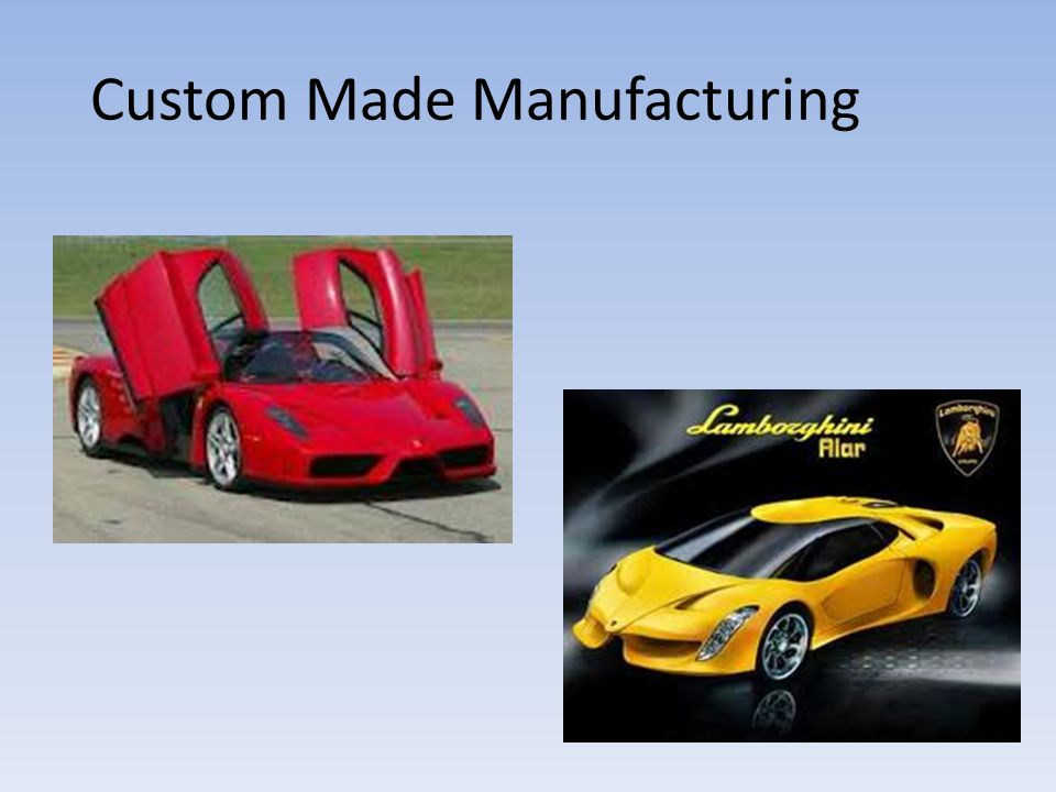 Custom Made Manufacturing