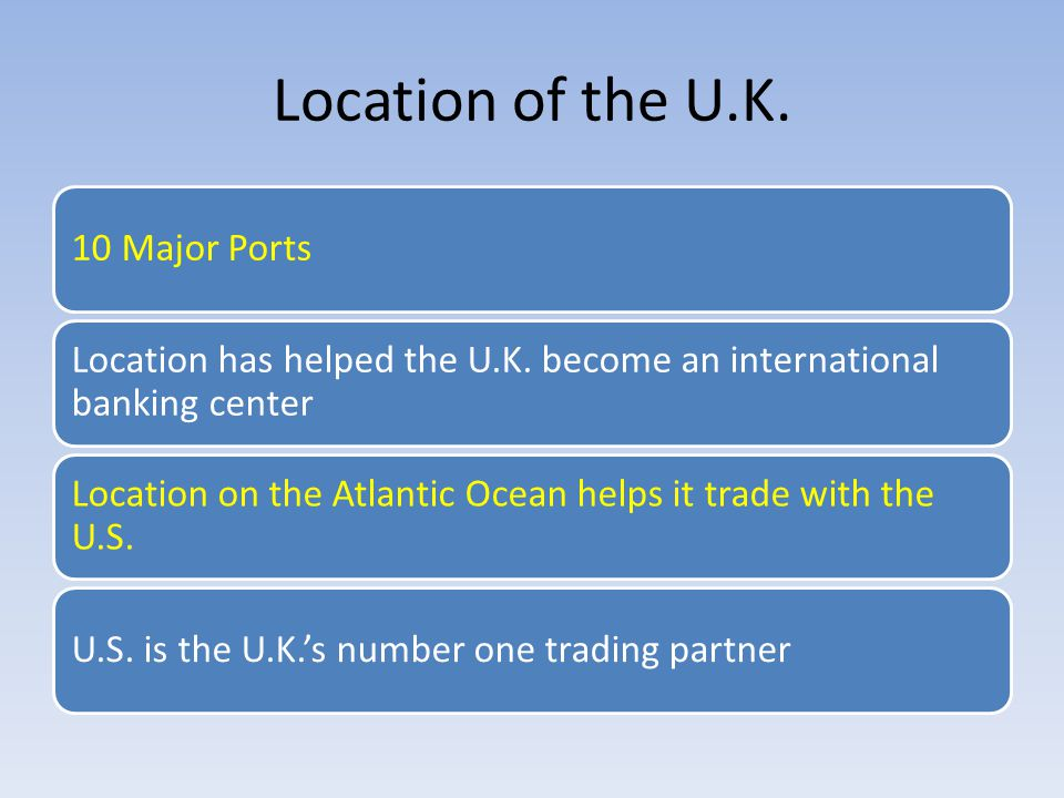 Location of the U.K. 10 Major Ports