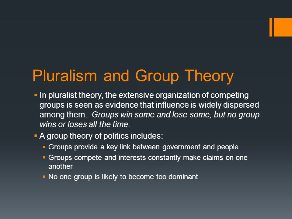 Pluralism and Group Theory