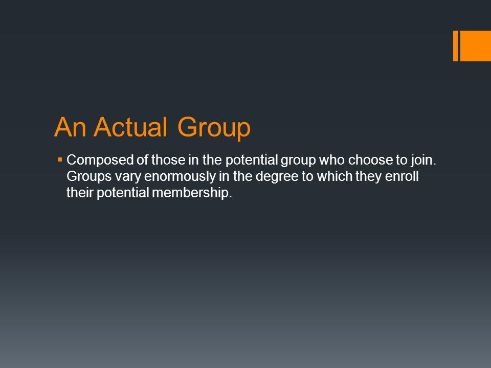 An Actual Group