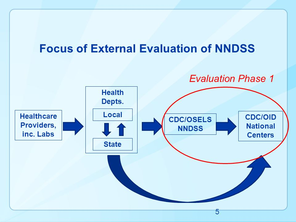 Focus of External Evaluation of NNDSS