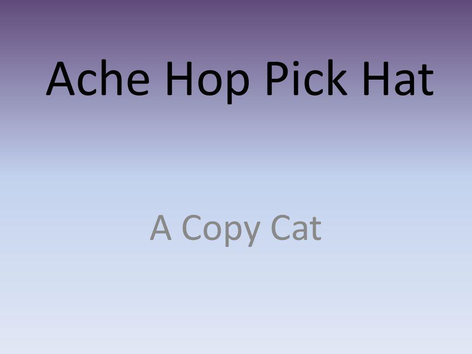 Ache Hop Pick Hat A Copy Cat