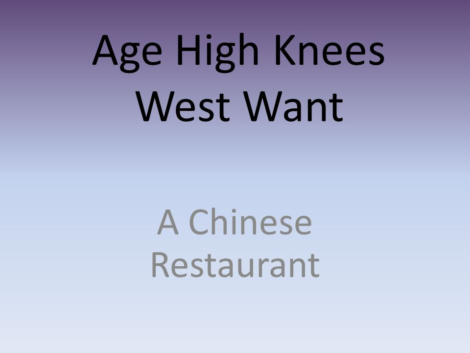 Age High Knees West Want