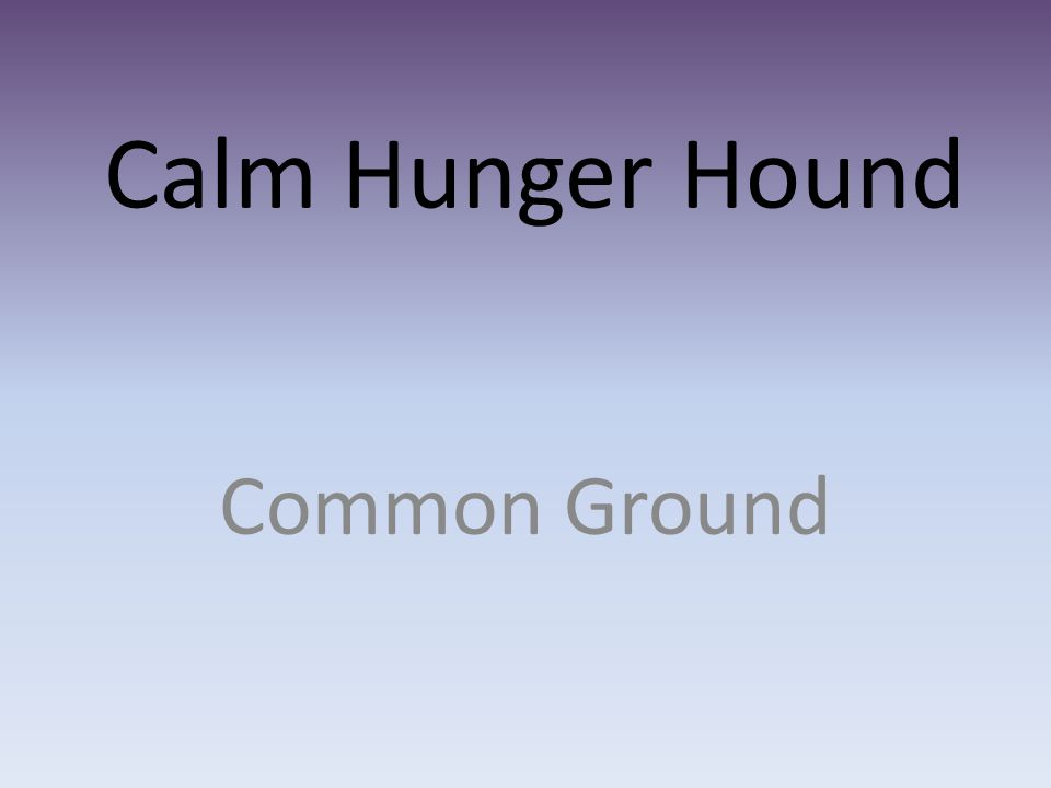 Calm Hunger Hound Common Ground