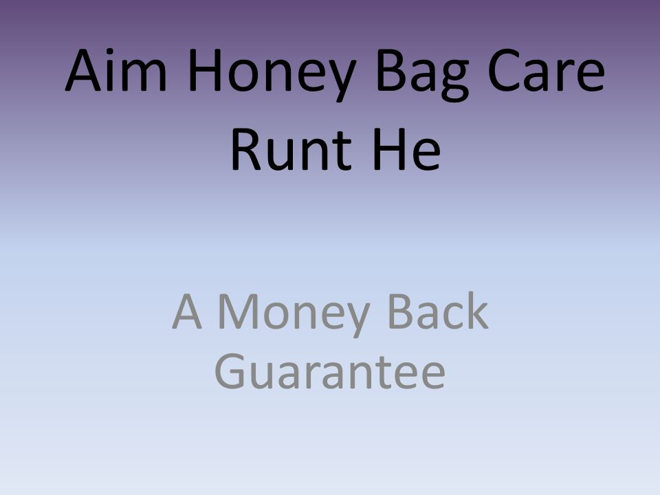 Aim Honey Bag Care Runt He