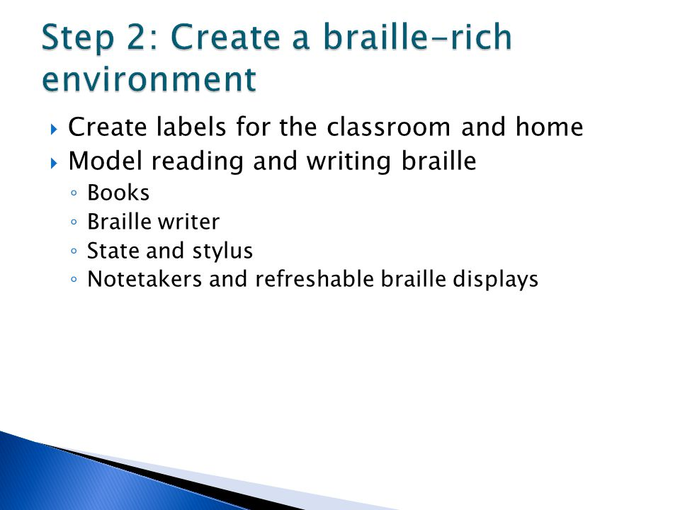 Step 2: Create a braille-rich environment