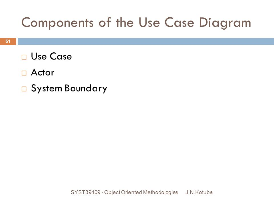 Components of the Use Case Diagram
