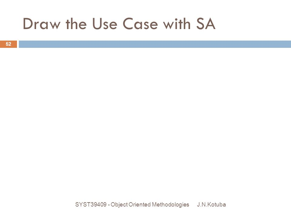 Draw the Use Case with SA