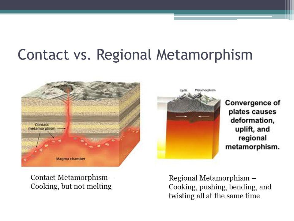 Contact vs. Regional Metamorphism